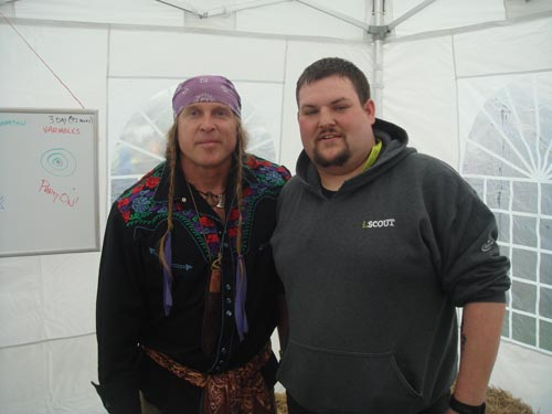 Mike with Cody Lundin at the Bushcraft Show, 2014.