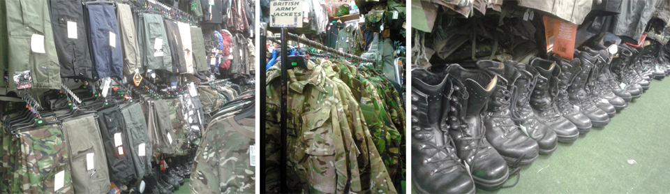 Uk army surplus store